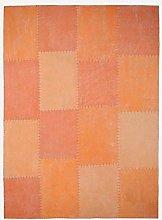 Cotton Flat Pile Rug Vintage Patchwork Design