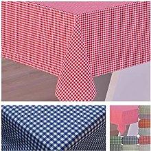 Cotton Gingham tablecloth (Purple, 160x120 cm)