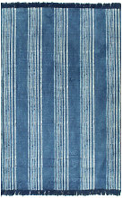 Cotton Grey Rug by Bloomsbury Market - Blue