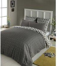 cotton king size bedding set in grey 240 x 260cm