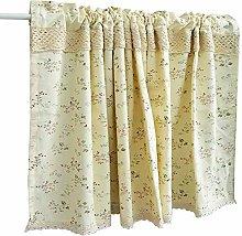 Cotton Linen Café Kitchen Curtain Half Valance