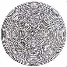 Cotton Linen Knitting Non-Slip Coasters Placemat