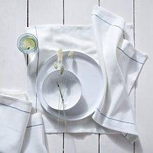 Cotton-Linen Napkin - Set of 4, White, One Size