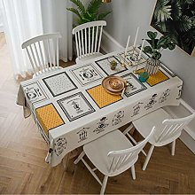 Cotton linen tablecloth living room coffee table