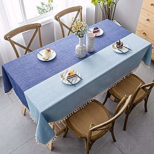 Cotton Linen Tablecloth Pure Color Tablecloth For