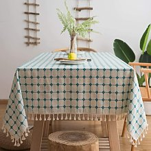 Cotton Linen Tablecloths with Tassel for Rectangle