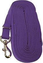 Cotton Lunge Rein (8m) (Purple) - Kincade