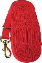 Cotton Lunge Rein (8m) (Red) - Kincade
