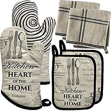 Cotton Oven Gloves With Silicone, Handle Pot
