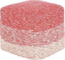 Cotton Pouffe Red HIRRI