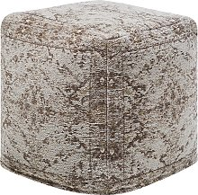 Cotton Pouffe Taupe MEERUT