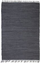 Cotton Red Rug by Bloomsbury Market - Grey
