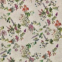 Cotton Rich Linen Look Fabric Digital Botanical