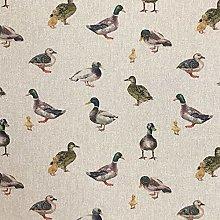 Cotton Rich Linen Look Fabric Digital Mallard