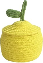 Cotton Rope Baby Storage Basket with Lid Small