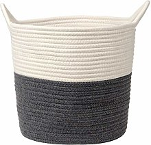 Cotton Rope Basket Woven Laundry Basket Toy