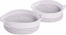 Cotton Rope Storage Baskets - Set of 2 | Storage