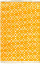 Cotton Taupe Rug by Bloomsbury Market - Yellow