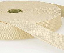 Cotton Webbing Cream - per metre