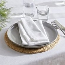 Cotton White Napkins – Set of 4, White, One Size