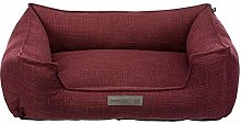 Couch Talis 80 x 60cm Burgundy, Cotton, Plush,