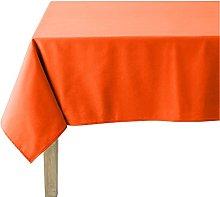 Coucke Mandarin Orange Cotton Plain Rectangular