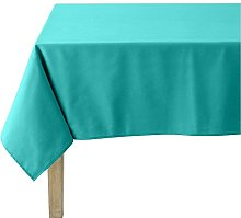 Coucke Plain Turquoise Cotton Round Tablecloth