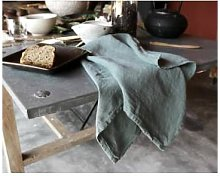 Couleur Chanvre - Linen Tea Towel - JADE GREEN