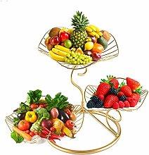 Countertop Fruit Basket Metal Wire 3-Tier Fruit