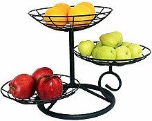 Countertop Fruit Basket Storage, 3 Tier Metal