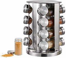 Countertop Spice Tower,16-jar Revolving