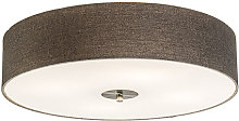 Country Ceiling Lamp 50cm Taupe - Drum Jute