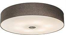 Country Ceiling Lamp 70cm Taupe - Drum Jute