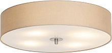 Country ceiling lamp beige 50 cm - Drum