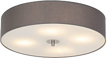 Country ceiling lamp gray 50 cm - Drum