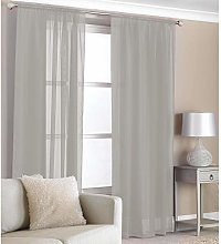 COUNTRY CLUB 2 Pack Voile Panels Slot Top Curtain