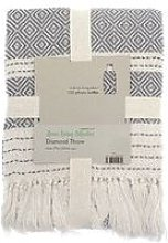 COUNTRY CLUB Diamond Throw Over Blanket Bed/Sofa