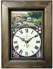 Country Cottage Garden Clock Handmade in England