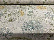 Country Floral Hedgerow Denim Cotton Designer