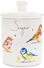 Country Life Birds Fine China Sugar Canister Jar