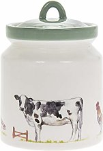 Country Life Farm Design Fine China Canister Home