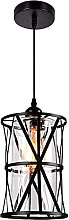 Country Style Chandelier Single Head Iron Glass