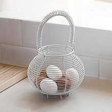 Country Style Pale Grey Wire Kitchen Circular Egg
