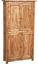 Country-style solid lime wood, natural finish
