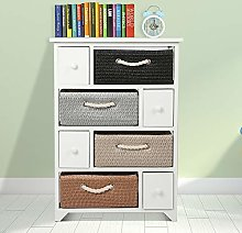 Country Style Storage Unit Cabinet Baskets