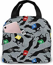 Coursing Whippets Gray Linen Lunch Cooler Bag,