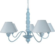 Cousteau 4-Light Shaded Chandelier Lily Manor