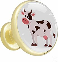 Cow Cartoon Cute Cabinet knobs Gold knobs for