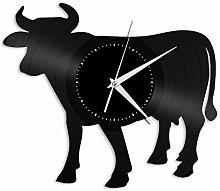 Cow (F) vinyl wall clock, vinyl record home