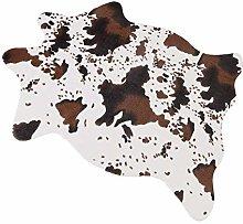 Cow Print Rug,3.6Wx2.5L Feet Faux Cowhide Skin